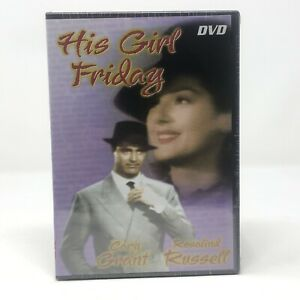 His Girl Friday DVD Standard Full Screen Cary Grant and Rosalind Russell NEW