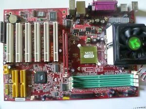 MSI MS-6712 KT4AV Socket A Motherboard with AMD ATHLON XP 2600+