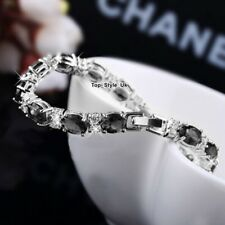CHRISTMAS GIFTS FOR HER Silver Tennis Bracelet Girlfriend Wife Mum Presents Y52