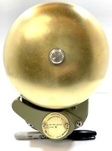 Vintage Henschel # 20-162 Corp Navy USA Ship's Brass Alarm Bell Type 6 WWII