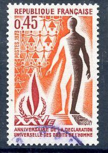 STAMP / TIMBRE FRANCE OBLITERE LUXE N° 1781 DECLARATION DES DROITS DE L'HOMME