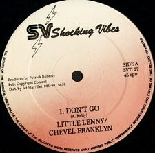 "LITTLE LENNY AND CHEVEL FRANKLYN don't go ST 27 shocking vibes 12"" CS EX/EX"