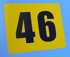 CLASSIC VINTAGE STYLE GP TT BIKE RACE NUMBERS SET OF 3! Ducati BMW AJS TRIUMPH