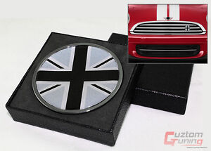 FOR MINI COOPER S COUNTRYMAN PACEMAN BLK JACK UK FLAG FRONT GRILL EMBLEM BADGE