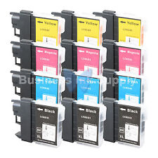 12 PACK LC65 Ink Set for Brother MFC-5890CN MFC-5895CW MFC-6490CW MFC-6890CDW