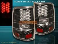 04-08 FORD F-150 F150 TAIL LIGHTS BLACK STYLESIDE LED