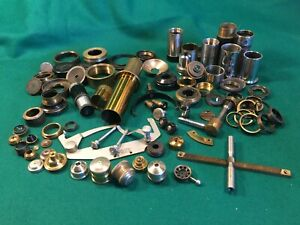 Vintage / Antique Brass Microscope Tubes, Lens, Stage, Base Parts, Watson +