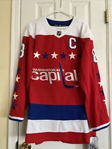 Adidas Ovechkin #8 Washington Capitals Authentic Jersey Size 46 - NWT! $225