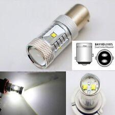 White DC 12V Auto Bulb Car Turn Signal Rear Light 1157 BAY15D 30W CREE LED
