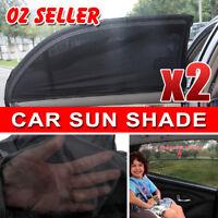 2X Car Rear Side Window Socks Sun Shade Black Mesh SUV UV Protection Large pair
