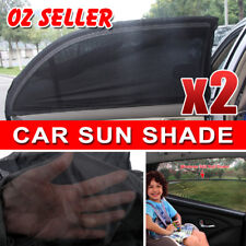 2X Car Rear Side Window Socks Sun Shade Black Mesh SUV UV Protection Large pair