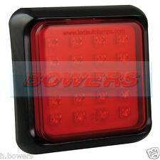 LED AUTOLAMPS 80FME SLIM SQUARE 12V/24V RED FOG TRAILER TRUCK CARAVAN LAMP LIGHT