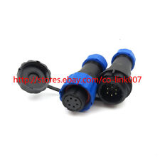Waterproof 6pin Power Connector, SD16 Aviation Plug Socket Panel mount Connector