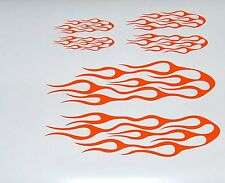 FLAME KIT CAR TRUCK AUTO VINYL DECAL STICKERS ORANGE SET OF 3 NEW