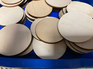 X15 Wooden 8cm Circle shapes Laser Cut Blank Embellishments Craft