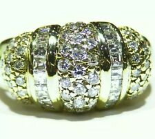 Certified 1.30CT 14K Gold Natural Diamond Round Vintage Engagement Band Ring