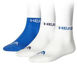 HEAD Sports Socks Quarter Mens Womens Tennis Running (3 Pair Sport Pack) UK 2-11