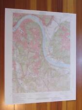 Newport Kentucky 1987 Original Vintage USGS Topo Map