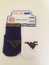Ncaa West Virginia Mountaineers Baby Boy Girl Socks Skidders Size 0-12 Months