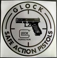 "DECAL - GLOCK 3 3/4"" silver & black"