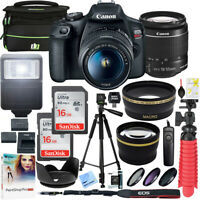 Canon T7 EOS Rebel DSLR Camera EF-S 18-55mm f/3.5-5.6 IS II Lens 16GB x2 Bundle