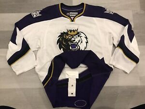 Reebok Manchester Monarchs AHL White Hockey Jersey Sz 52