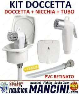 KIT DOCCIA CON CONTENITORE PORTADOCCETTA + TUBO IN PVC + DOCCETTA BARCA CAMPER
