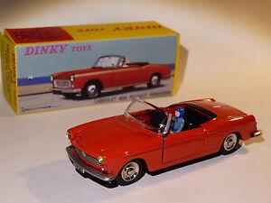 Peugeot 404 cabriolet rouge - ref 528 au 1/43 de dinky toys atlas
