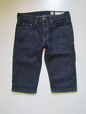 AllSaints Spitalfields High Waist Button Fly Boy Shorts, Dark Wash - Size 30