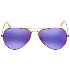Ray Ban Aviator Flash Lenses Violet Mirror Mens Sunglasses RB3025 167/1M 58
