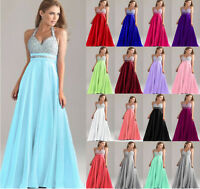 New Long Formal Ball Gown Evening Party Prom Bridesmaid Dress Stock UK Size 6-22