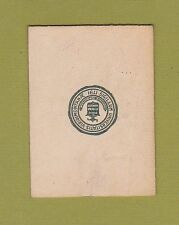 c1910 tobacco/ college leather L series University Of Vermont #5 Nice.