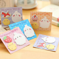Cute Bunny Sticky Notes Memo Bookmark Post Flag Notepads Guestbook Stationery