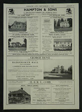 Badgeworth Hall Gloucestershire Estate Agent Detail 1955 Page Advert