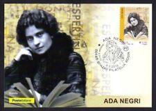 Italy 2018: ADA Negri Born in Lodi-Postcard Official Poste Italiane