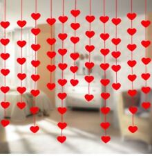 Valentine Day Heart Red Garland Hanging Decoration Hearts Wedding Party Decor 16