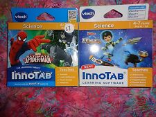 Lot 2 VTECH INNOTAB GAMES Miles From Tomorrowland & Ultimate Spiderman Lot#27