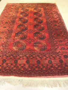 antico-swiss Beautiful Antique ERSARI rug  6`8 x 10`4 ft