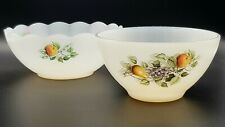 More details for two 1970s arcopol france 'fruits de france' pattern bowls