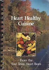 *TYLER TX VINTAGE EAST TEXAS HEART BEATS COOK BOOK *HEART HEALTHY CUISINE *LOCAL