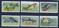 ALEMANIA/RDA EAST GERMANY 1987 MNH SC.2607/2612 Freshwater fish
