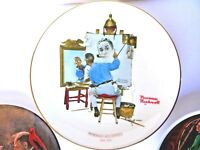 Vintage Norman Rockwell Collector Plates, Lot of Three - free shipping