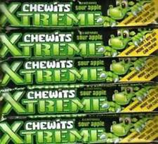 Chewits Xtreme 6 Chews Per Pack (12 Packs) Sour Apple Long Date Value Deal