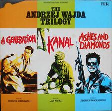 ANDRZEJ WAJDA 3xBO :UNE FILLE A PARLE-CENDRES ET DIAMANTS LP UK 1983Etat neuf!