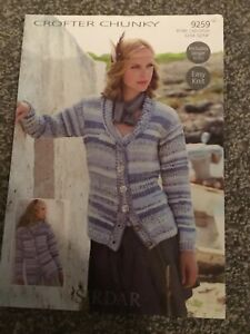"Sirdar Crofter Chunky Knitting Pattern Ladies Cardigan 32""-54"" (3113) M1"