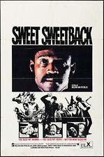 "Poster Sweet Sweetback's Baadasssss Song 1971 27""x41"" Melvin Mario Van Peebles"