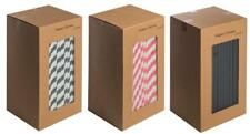 21 Coloured Paper Straws 250 Pieces