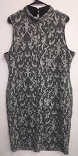 NEW New York & Company Etched Cut Out Black White $75 Sleeveless Dress NWT XL