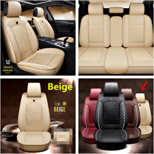 Full Set Car Seat Covers Pu Leather Front+Rear Cushion For Interior Accessories (Fits: Peugeot)