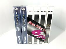 TEAC HX High Quality 6 Pack E-180 Blank 3 Hour VHS Video Cassette Tapes